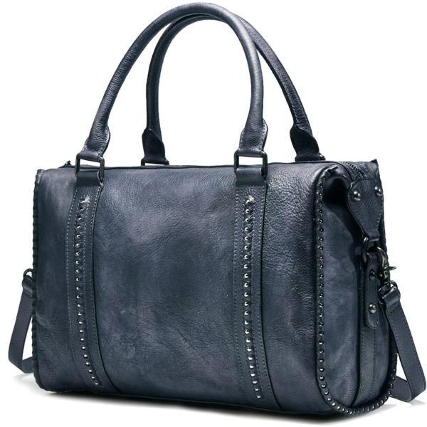 NiceEbag Women Satchel Top-handle Bag Genuine Leather Shoulder Bag Tot