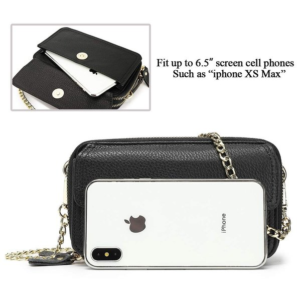 Womens Crossbody Bag Genuine Leather Roomy Small Cell Phone Wallet Sho