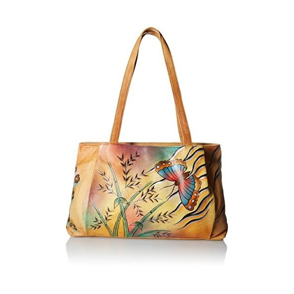Anna by Anuschka Genuine Leather Large Shopper | Hand Painted Original
