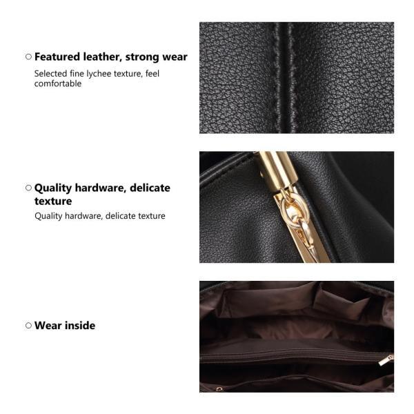 Forestfish PU leather Ladies Satchel Tote Bag Shoulder Bags Handbags f