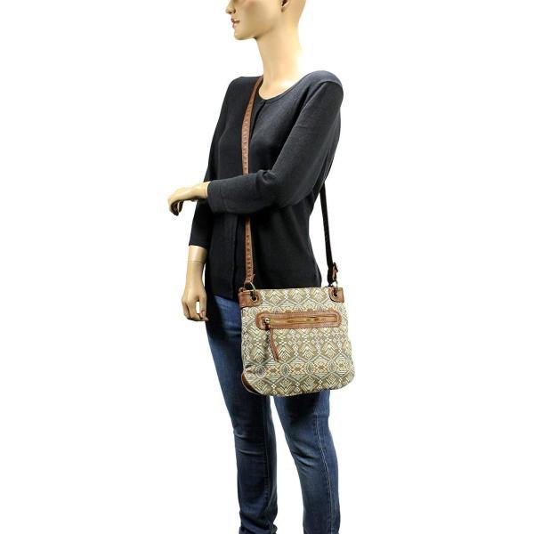 Scarleton Trendy Fabric Crossbody Bag H191404 - Brown