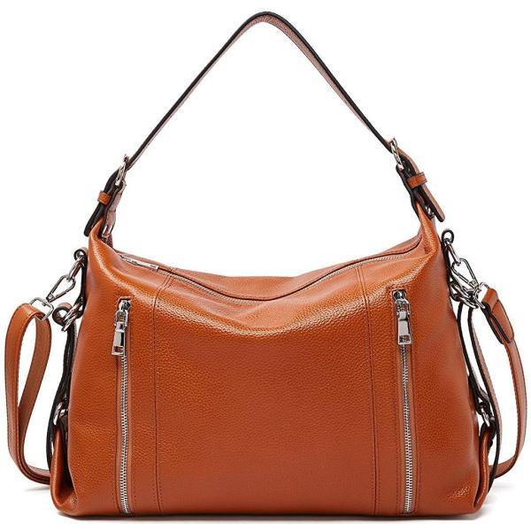 Women Leather Handbags Hobo Shoulder Bags Large Tote Ladies Purses Cro