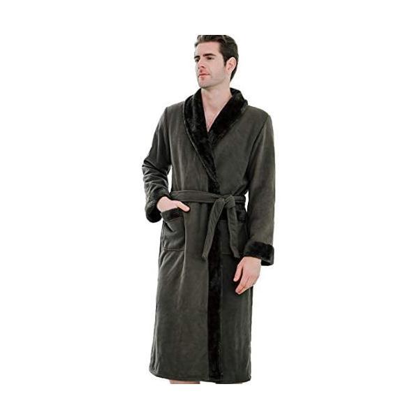 (アーケード)ARCADEバスローブメンズガウンレディース男女兼用バスローブお風呂上がりルームウェア部屋着(カーキM)