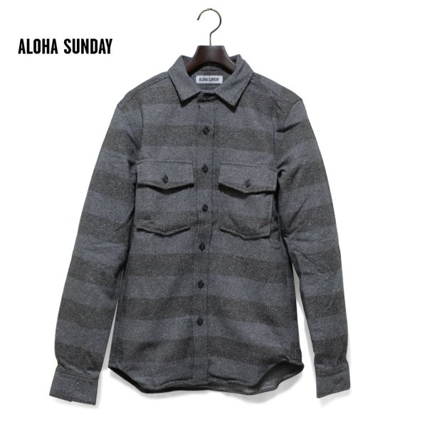 ALOHA SUNDAY アロハサンデー ALEXANDER ボーダーシャツ