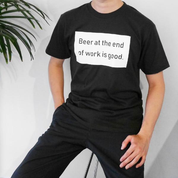 Tシャツ メンズ 半袖 ブランド おしゃれ レディース ボックスロゴ ビール メッセージ ロゴ Blueism|blueism-y|13