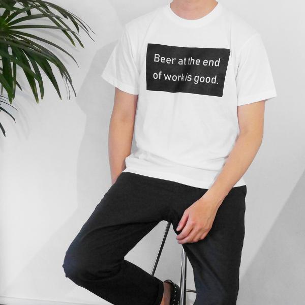 Tシャツ メンズ 半袖 ブランド おしゃれ レディース ボックスロゴ ビール メッセージ ロゴ Blueism|blueism-y|04