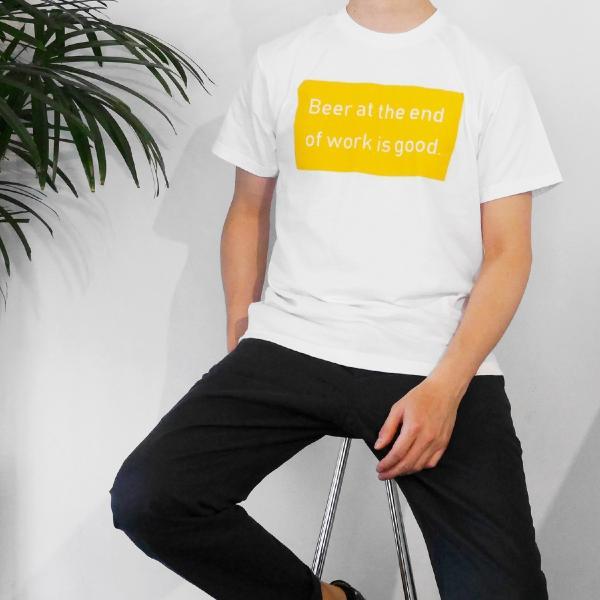 Tシャツ メンズ 半袖 ブランド おしゃれ レディース ボックスロゴ ビール メッセージ ロゴ Blueism|blueism-y|07