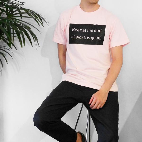 Tシャツ メンズ 半袖 ブランド おしゃれ レディース ボックスロゴ ビール メッセージ ロゴ Blueism|blueism-y|10