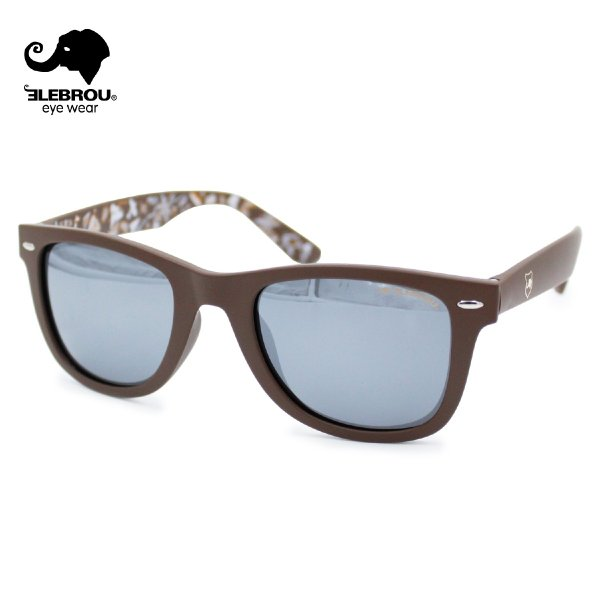 ELEBROU eyewear エレブロ RT Brown Silver mirror
