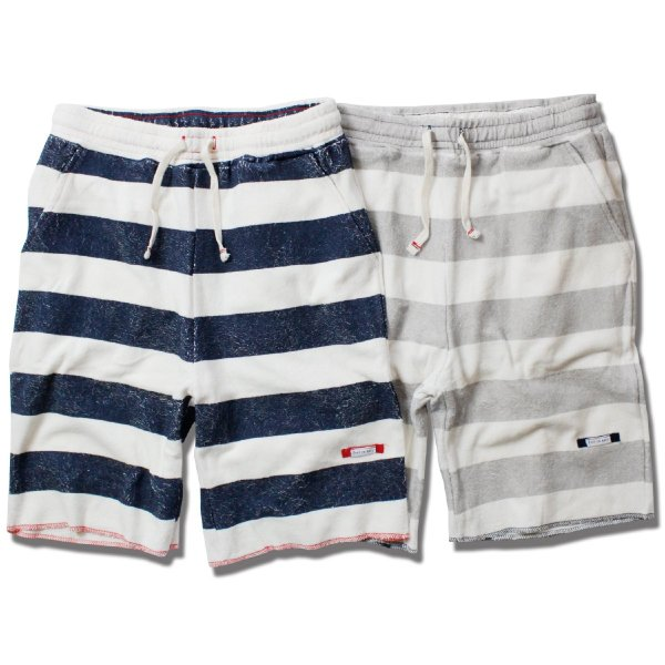 Organic Cotton Ecology Standard COMPACT PILE SHORTS BORDER