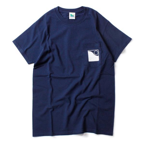 Tシャツ メンズ ブランド 半袖 おしゃれ レディース オフショア ポケット ポケT ロゴ マップ 地図柄 地図 バックプリント サーフ|blueism-y|02