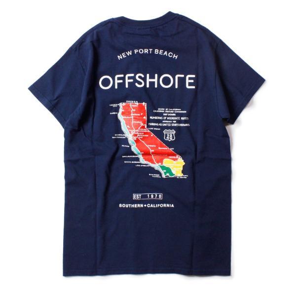 Tシャツ メンズ ブランド 半袖 おしゃれ レディース オフショア ポケット ポケT ロゴ マップ 地図柄 地図 バックプリント サーフ|blueism-y|03