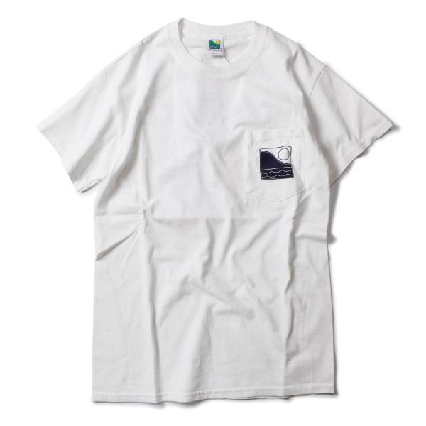 Tシャツ メンズ ブランド 半袖 おしゃれ レディース オフショア ポケット ポケT ロゴ マップ 地図柄 地図 バックプリント サーフ|blueism-y|04