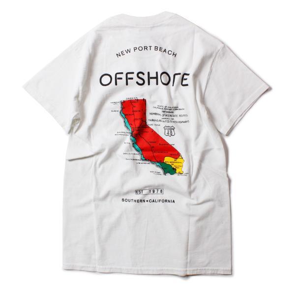 Tシャツ メンズ ブランド 半袖 おしゃれ レディース オフショア ポケット ポケT ロゴ マップ 地図柄 地図 バックプリント サーフ|blueism-y|05