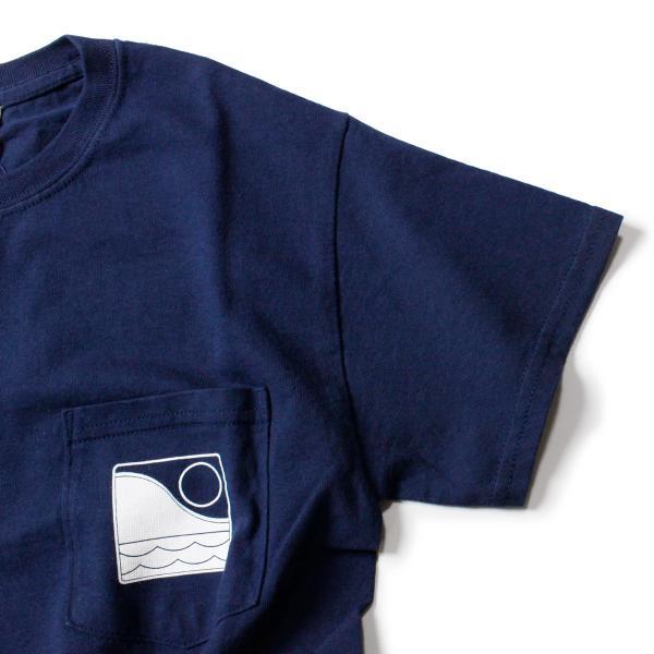 Tシャツ メンズ ブランド 半袖 おしゃれ レディース オフショア ポケット ポケT ロゴ マップ 地図柄 地図 バックプリント サーフ|blueism-y|06