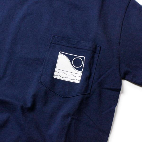 Tシャツ メンズ ブランド 半袖 おしゃれ レディース オフショア ポケット ポケT ロゴ マップ 地図柄 地図 バックプリント サーフ|blueism-y|07