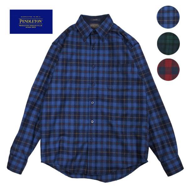 メンズ シャツ 長袖 ペンドルトン PENDLETON フランネルウール aa043 FLANNEL L S WOOL SHIRT 3カラー OOO|blueism-y
