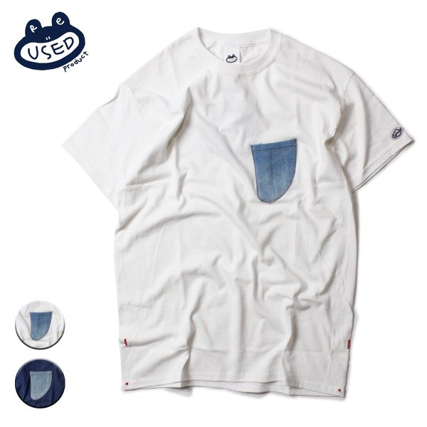 Reused Product Fin Pocket Tee Denim Pocket