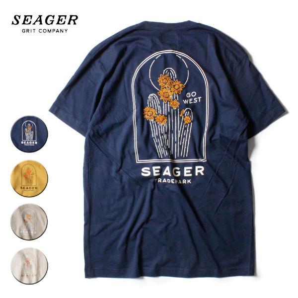 Tシャツ ブランド メンズ レディース サーフ アメカジ バイク アウトドア サーフブランド サーファー ウィメンズ ペア 半袖Tシャツ SEAGER|blueism-y