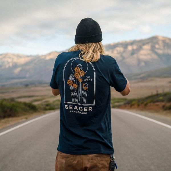 Tシャツ ブランド メンズ レディース サーフ アメカジ バイク アウトドア サーフブランド サーファー ウィメンズ ペア 半袖Tシャツ SEAGER|blueism-y|14