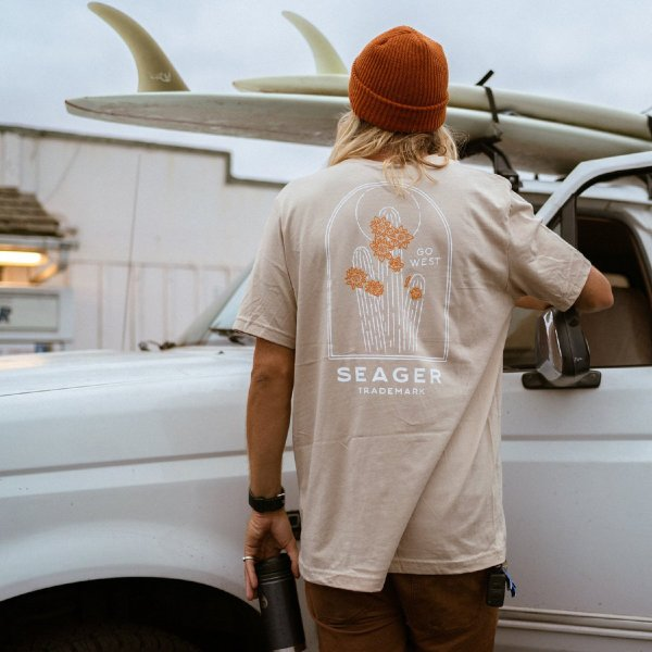Tシャツ ブランド メンズ レディース サーフ アメカジ バイク アウトドア サーフブランド サーファー ウィメンズ ペア 半袖Tシャツ SEAGER|blueism-y|15