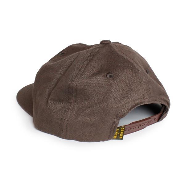帽子 キャップ メンズ ブランド レディース サーフブランド サーフキャップ 20代 30代 コラボレーション 海外 SEAGER ALMOND 茶|blueism-y|03