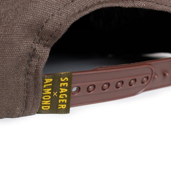 帽子 キャップ メンズ ブランド レディース サーフブランド サーフキャップ 20代 30代 コラボレーション 海外 SEAGER ALMOND 茶|blueism-y|06