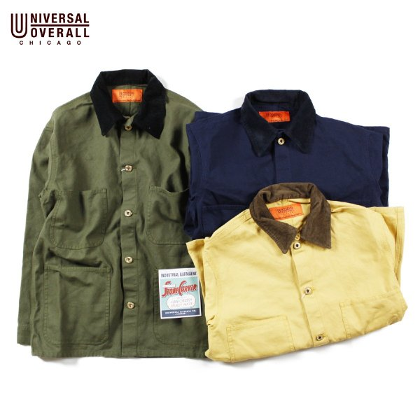 UNIVERSAL OVERALL ユニバーサルオーバーオール CORDUROY COLLAR COVERALL JACKET