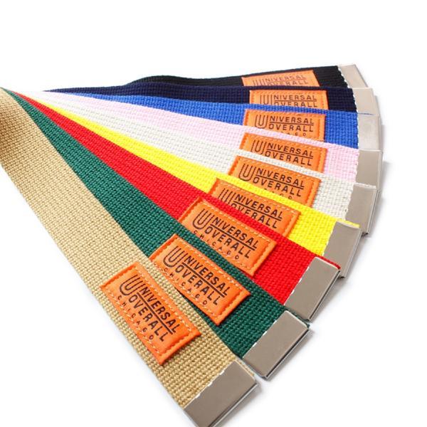 ベルト ガチャベルト ブランド メンズ レディース カラー ユニバーサルオーバーオール カジュアル 日本製 穴なしベルト UV0846I|blueism-y|03