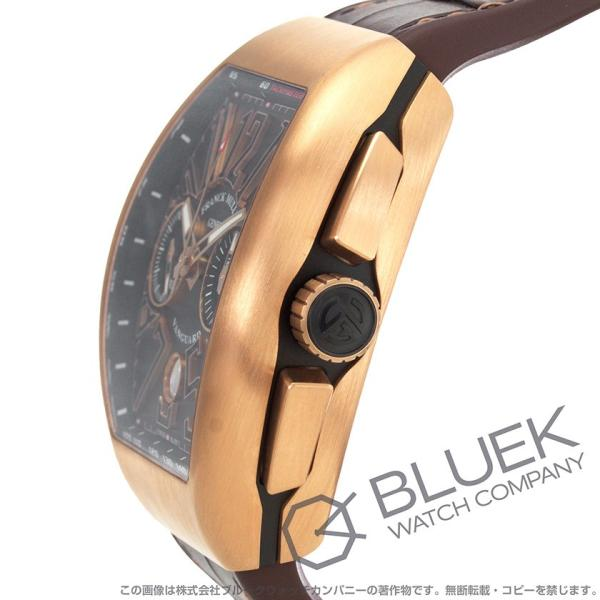 57ee6cce96 ... フランクミュラー ヴァンガード クロノグラフ PG金無垢 クロコレザー 腕時計 メンズ FRANCK MULLER V