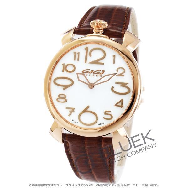 ガガミラノ マヌアーレ シン46MM リザードレザー 腕時計 ユニセックス GaGa MILANO 5091.06