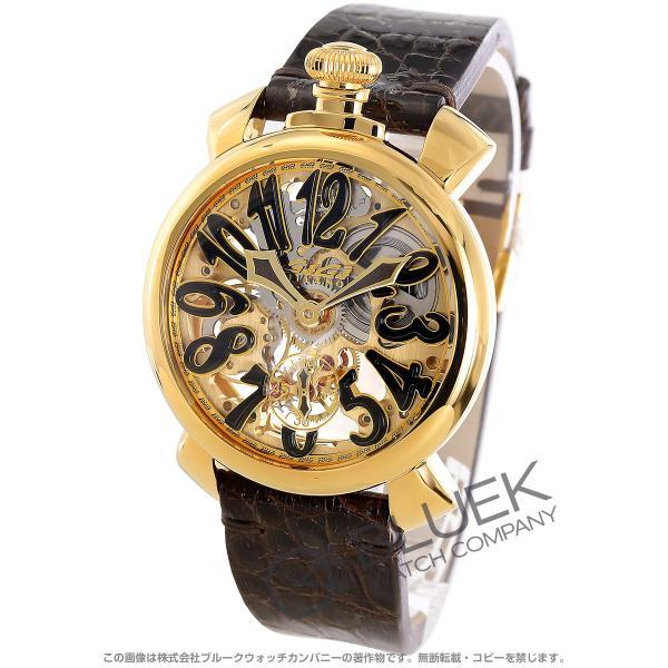 uk availability 66364 827b8 ガガミラノ マヌアーレ48MM スケルトン 腕時計 メンズ GaGa MILANO 5314.01