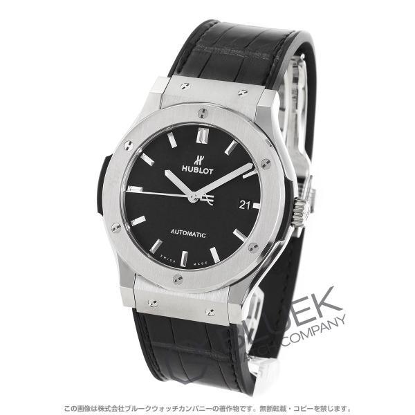 wholesale dealer 61294 c3429 ウブロ クラシック フュージョン チタニウム アリゲーターレザー 腕時計 メンズ HUBLOT 511.NX.1171.LR