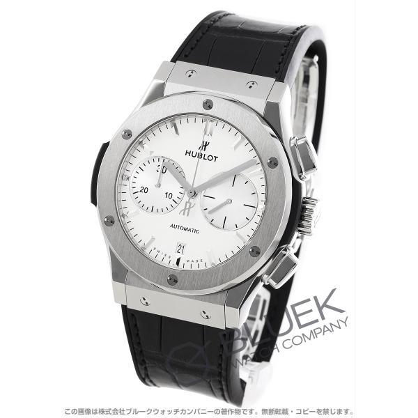 size 40 36186 d5db2 ウブロ クラシック フュージョン チタニウム オパリン クロノグラフ アリゲーターレザー 腕時計 メンズ HUBLOT 521.NX.2611.LR