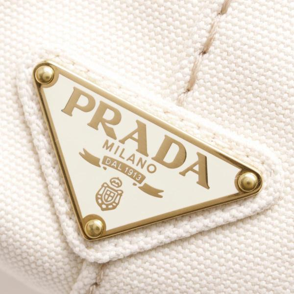 プラダ トートバッグ/ショルダーバッグ バッグ レディース カナパ CANAPA 三角ロゴプレート グレッゾホワイトベージュ 1BG642 ZKI F0034 PRADA