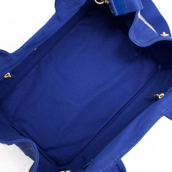 プラダ トートバッグ/ショルダーバッグ バッグ レディース カナパ CANAPA 三角ロゴプレート コバルトブルー 1BG642 ZKI F0215 PRADA