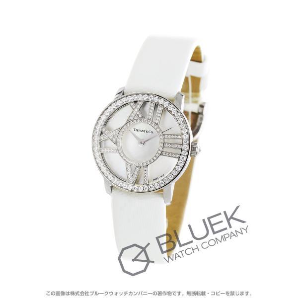 new product 18df1 46a38 ティファニー アトラス ダイヤ WG金無垢 サテンレザー 腕時計 レディース TIFFANY Z1900.10.40E91A40B