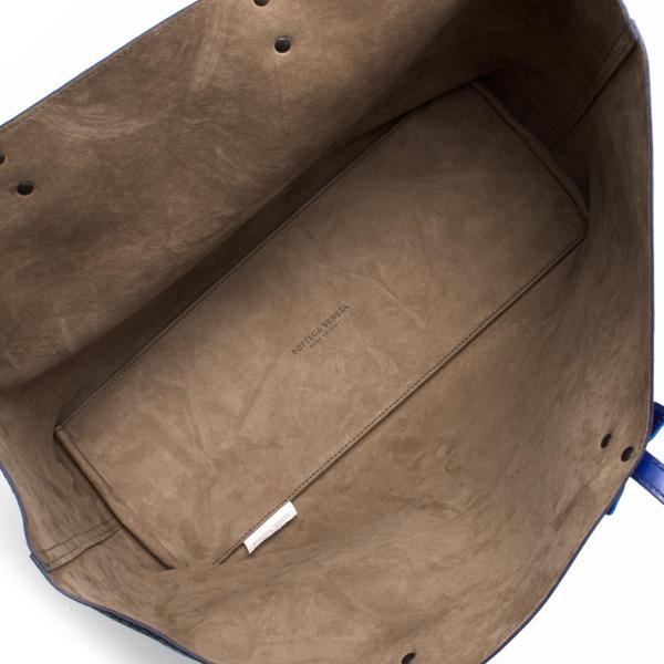 ボッテガヴェネタ (ボッテガ・ヴェネタ) トートバッグ バッグ レディース マイクロ バタフライ プリント コバルトブルー 498534 VBIJ0 4238