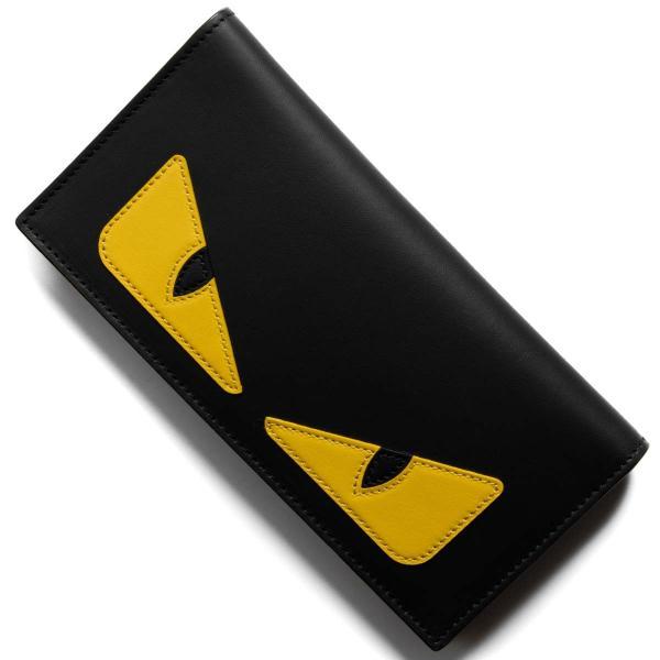 フェンディ 長財布【札入れ】 財布 メンズ レディース モンスター バッグ バグズ ブラック&ジャッロイエロー&ロッソレッド 7M0244 O73 F0U9T FENDI