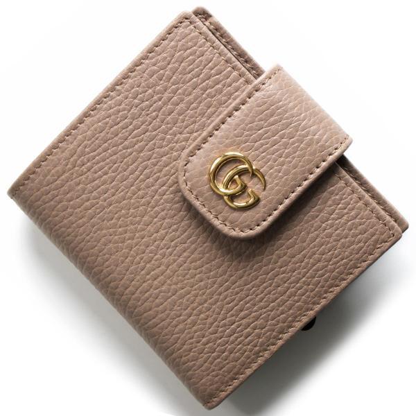 super popular a16a4 6b3c6 グッチ 二つ折り財布 財布 レディース シルヴィ ポーセリン ...