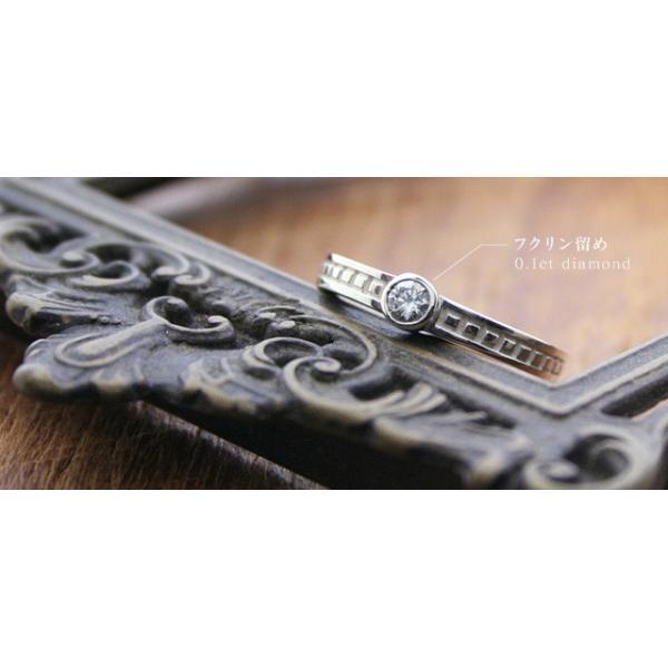一粒ダイヤモンドリング 天然石ダイヤモンド0.1ct 指輪 シルバー レディース ダイヤ指輪|bluelace|02