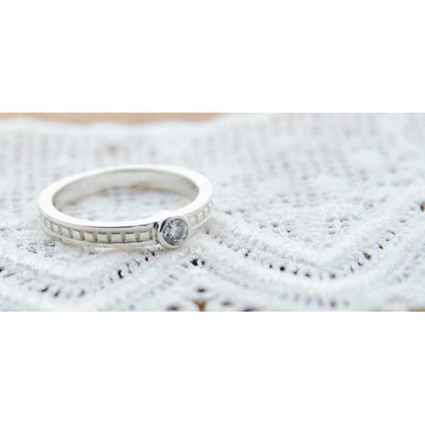 一粒ダイヤモンドリング 天然石ダイヤモンド0.1ct 指輪 シルバー レディース ダイヤ指輪|bluelace|03