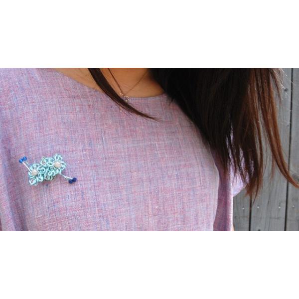 ピンブローチ レディース 真珠 アコヤ真珠 水引 ピンバッジ 花 和風 2|bluelace|03