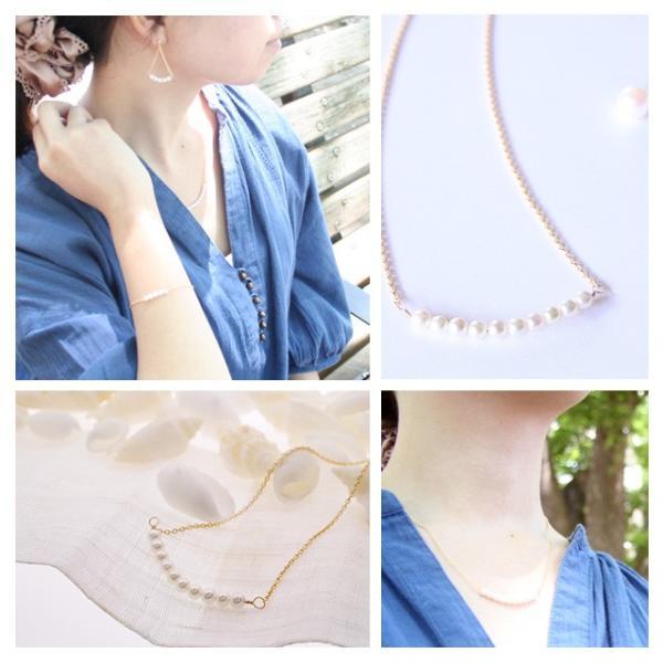 真珠パール ネックレス あこや真珠 K18|bluelace|02