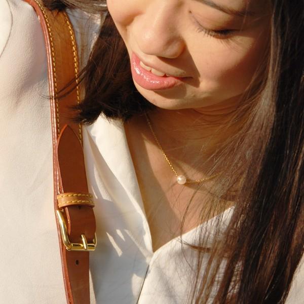 パール ネックレス 一粒 パールネックレス 真珠 あこや真珠 スルー 18金|bluelace|04