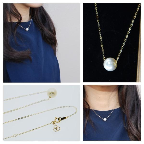 真珠 ネックレス 一粒 パールスルーネックレス アコヤ真珠 本真珠 8.5mm|bluelace|02