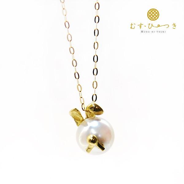 【ラッキーアニマル】 ウサギ あこや真珠 ネックレス 7.5-8mm K10 K18|bluelace