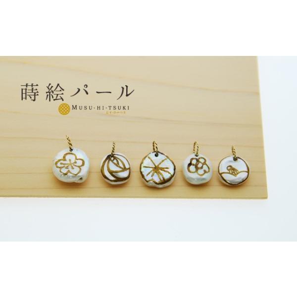 パール ネックレス 1粒 花 ネックレストップ K10 花びら蒔絵パール チャーム アクセサリー|bluelace|02