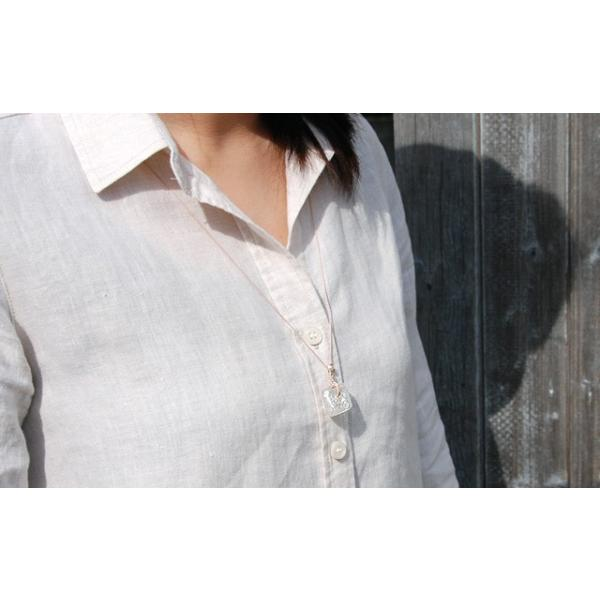 アロマペンダント ネックレス ガラス アロマデュフューザー 白 ガラス 淡水パール|bluelace|04
