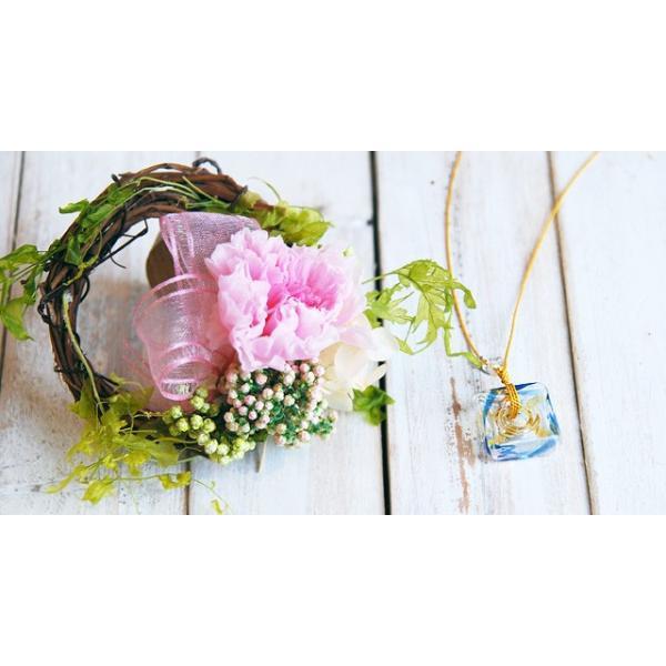 母の日 アロマペンダント ネックレス ガラス アロマデュフューザー ミニリースセット|bluelace|04